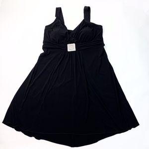 EN Focus Black A-Line Cocktail Party Dress 16W